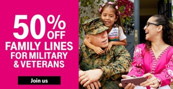 T-Mobile ONE 50% Off Military Offer