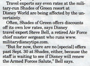Military Disney Tips Quote - Military Times