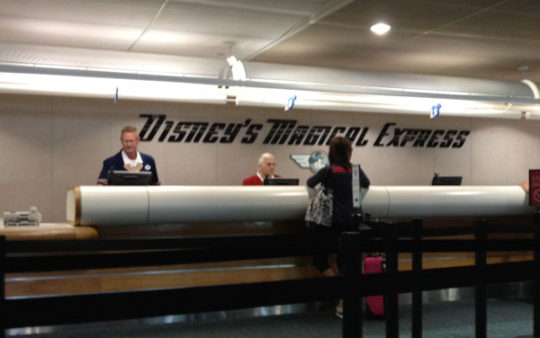 Disney's Magical Express Welcome Counter