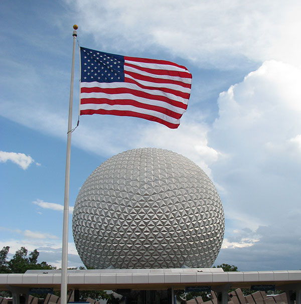 Epcot's American Flag at WDW