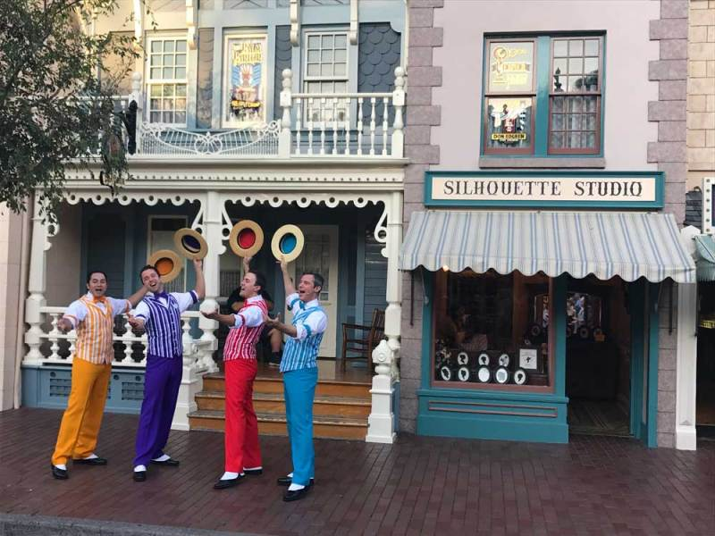 Disneyland's famous barbershop quartet, The Dapper Dans