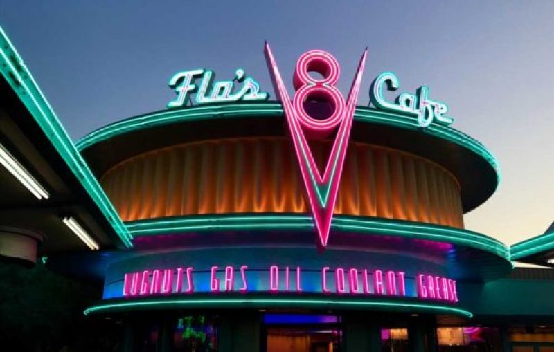 "Flo's V8 Café, as seen during Disneyland's ""Sh-boom Moment!"""