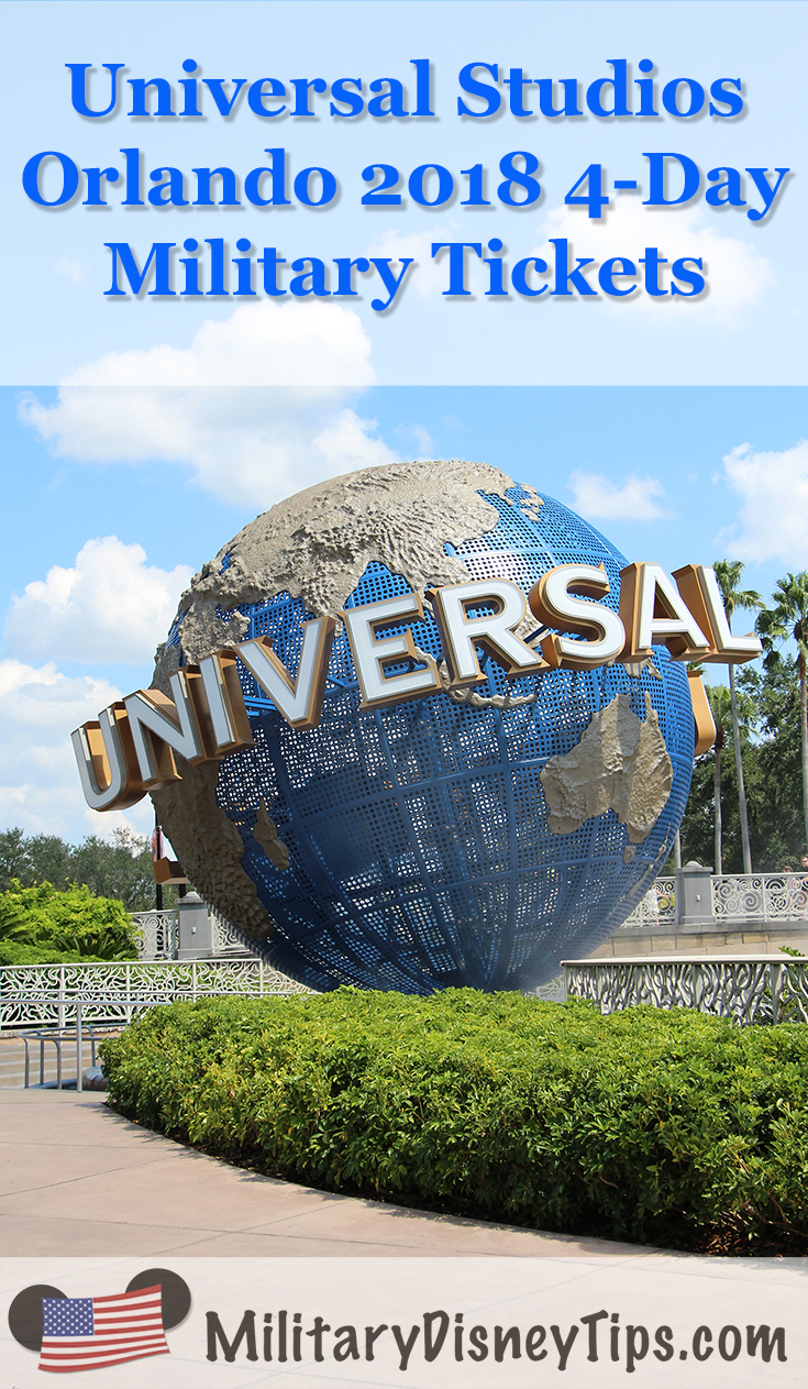 Universal Orlando 4-Day Military TIcket
