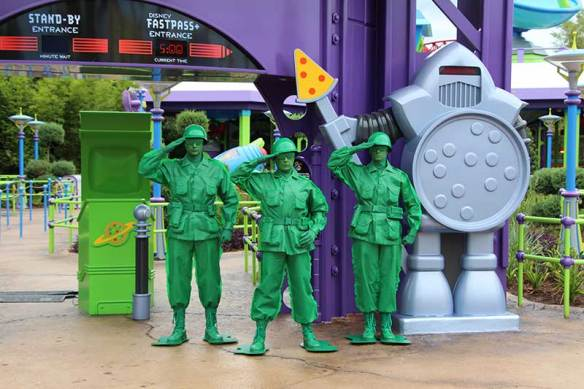Toy Story Land Green Army Men Salute