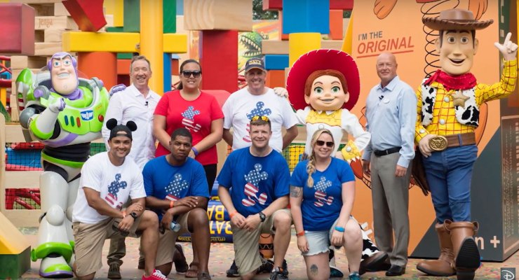 Walt Disney World Toy Story Land Welcomed Special Members of U.S. Military Prior to Opening  Day