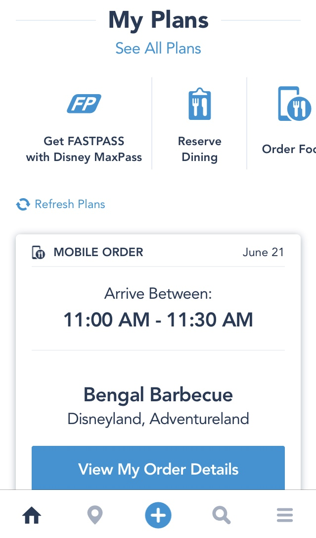 How to Use Mobile Order Food with the Disneyland App