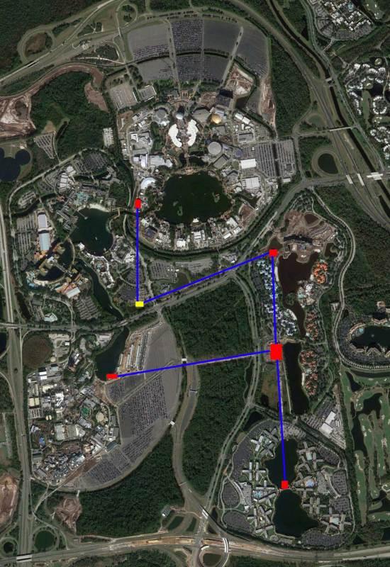 Walt Disney World Skyliner Map