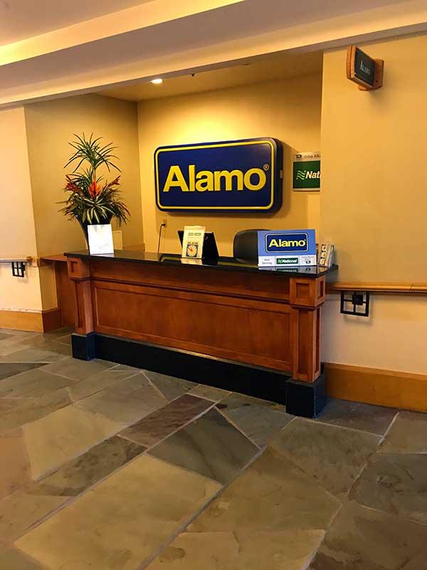The Alamo Car Rental Location at Shades of Green Resort