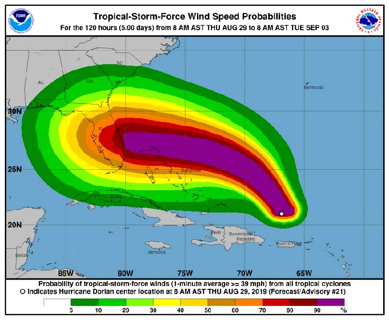 Hurricanes and Thunderstorms at Walt Disney World and Shades of Green