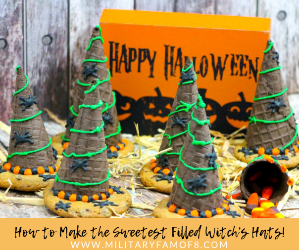 How to Make the Sweetest Filled Witch's Hats! This recipe is the perfect thing for any activity you are hosting this month! It's such a fun and fast craft, did we mention it's also delicious?!