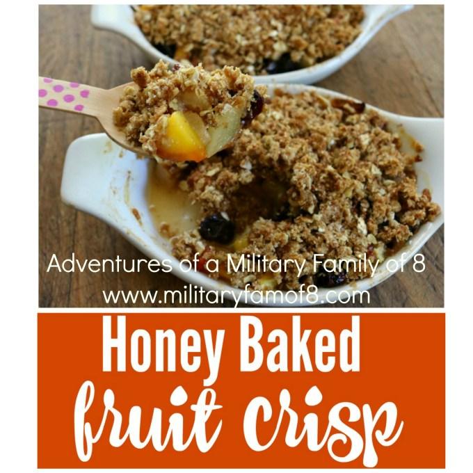 Amazing Honey Baked Fruit Crisp #CookingWithGerber