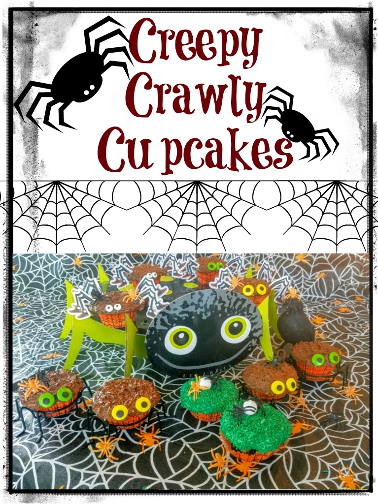 How to make easy Creepy Crawly Cupcakes in under 1 hour! These are some Spiders that won't scare you & are delicious! A must have for #Halloween #party #foodie