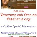 Veterans Eat Free on Veteran's Day