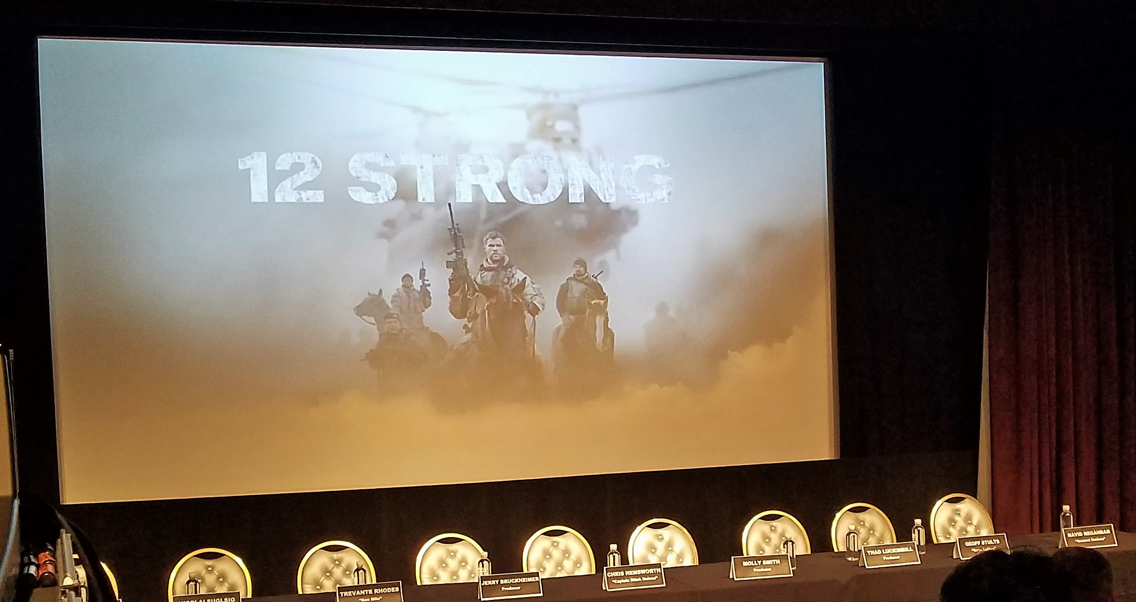 Interview with the 12 Strong Cast in Hollywood