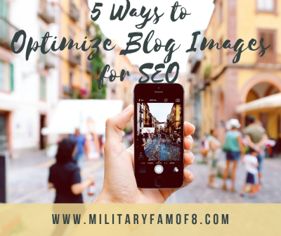 5 Ways to Optimize Blog Images for SEO. How to optimize images with SEO on my blog? How can I add good SEO to my blog's pictures? Have you wondered how you can optimize your pictures to be seen more? I literally have been revisiting my old posts and applying these tips and the rise in readership has been noticeable!