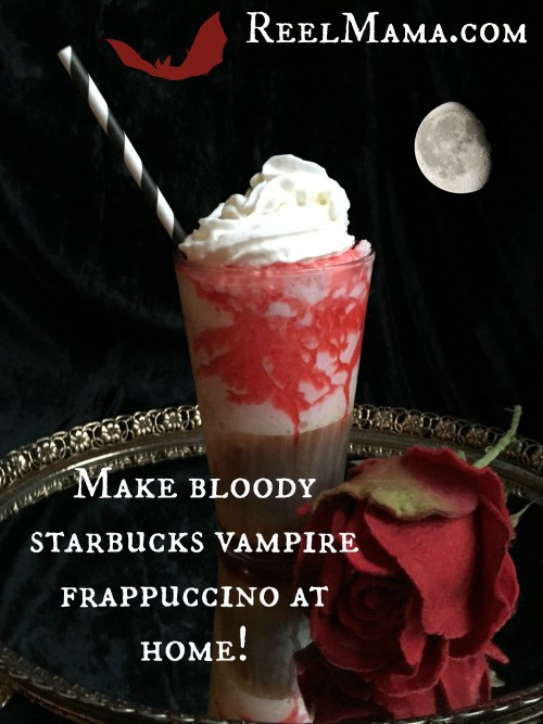 """bloody"" Starbucks vampire Frappuccino The Spookiest Halloween Drink Recipes Ever!"