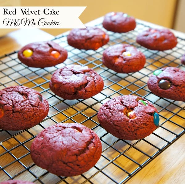 Red Velvet Cake M&M's Cookies The Ultimate Leftover Candy Recipe Collection! With over 70 recipes you are sure to find ways to use left over candy in ways you did not imagine! From pies to ice cream to drinks, these recipes will blow your mind!
