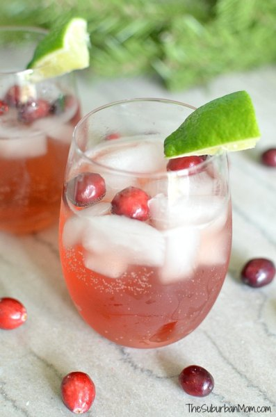 Cranberry Spritzer Ultimate List of Holiday Cocktail & Mocktail Recipes