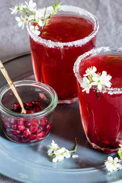 Pomegranate Martini Ultimate List of Holiday Cocktail & Mocktail Recipes