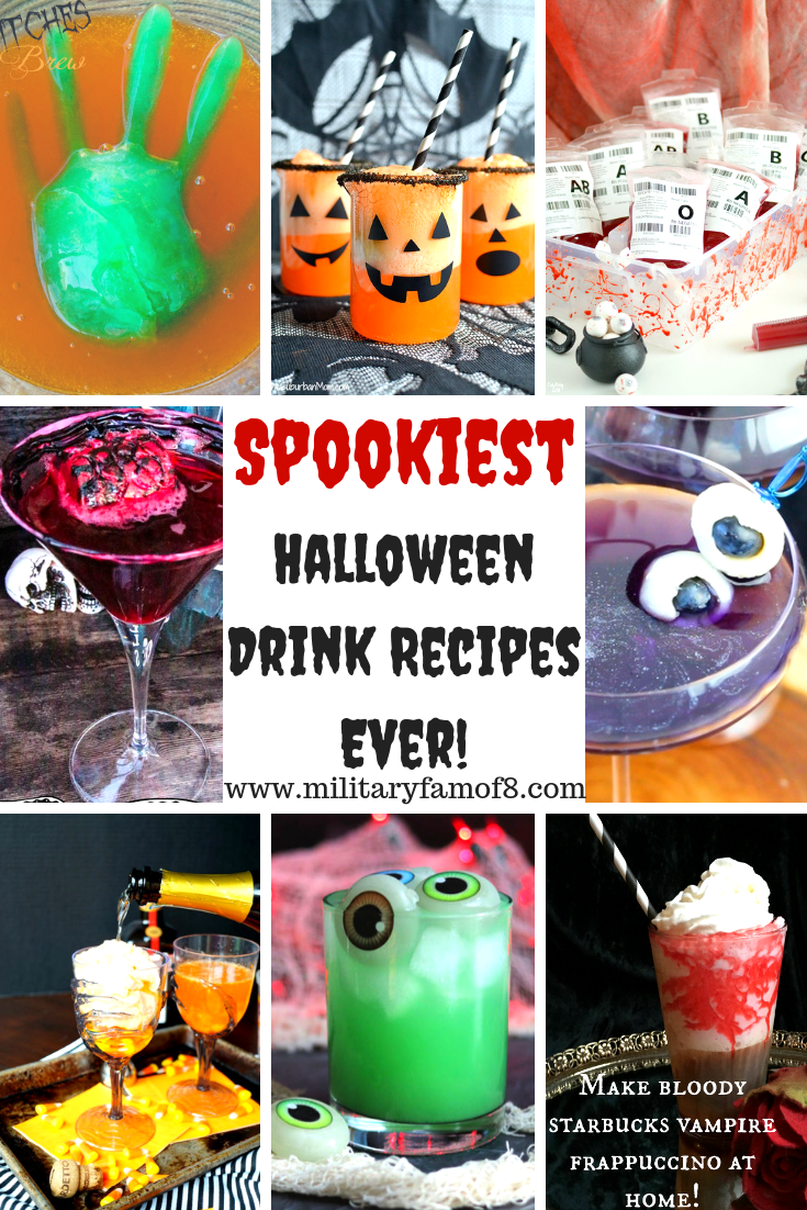The Spookiest Halloween Drink Recipes Ever! Are you looking for a list of options for delicious AND spooky Halloween concoctions & potions? This list of the best tasting Halloween drinks will have you howling at the moon with delight! #Halloween