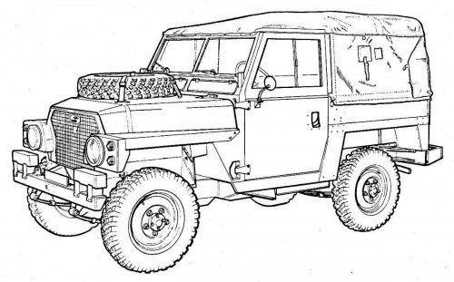 Land Rover Lightweight Sketch Coloring Page