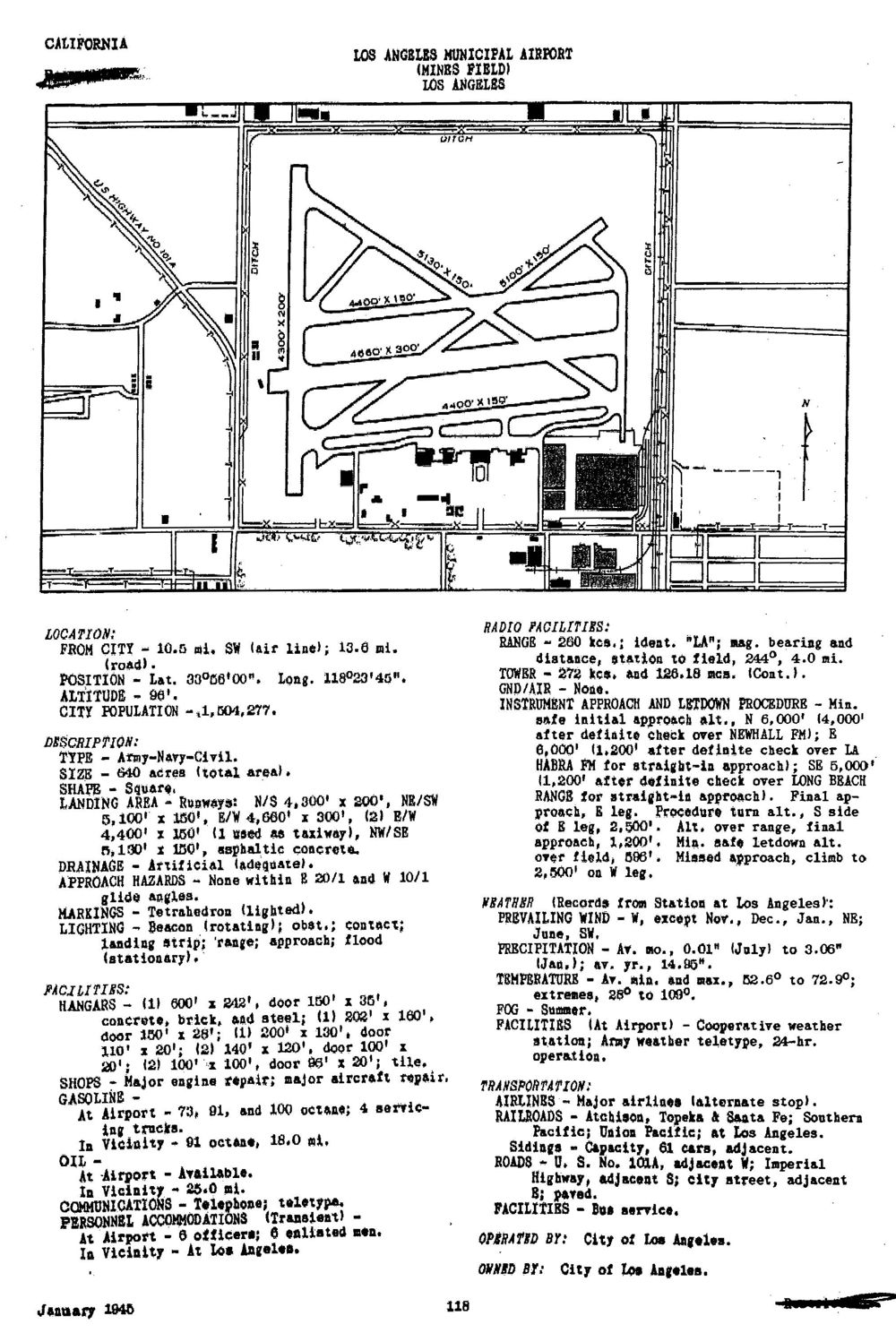 Historic California Airfields: Los Angeles Municipal