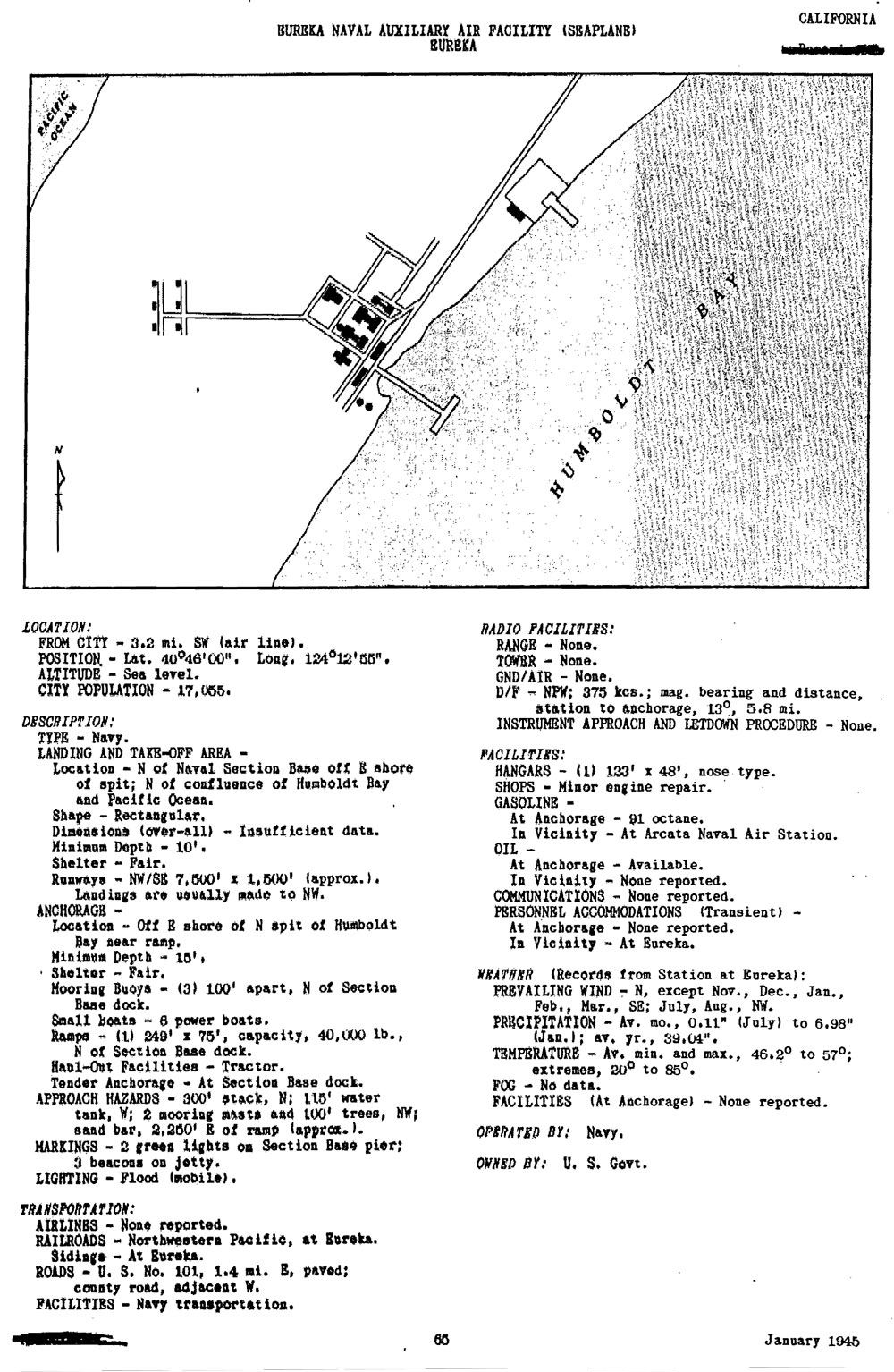 Historic California Posts: Naval Auxiliary Air Facility