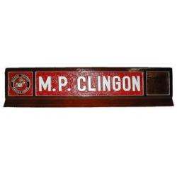 Navy Desk Name Plates
