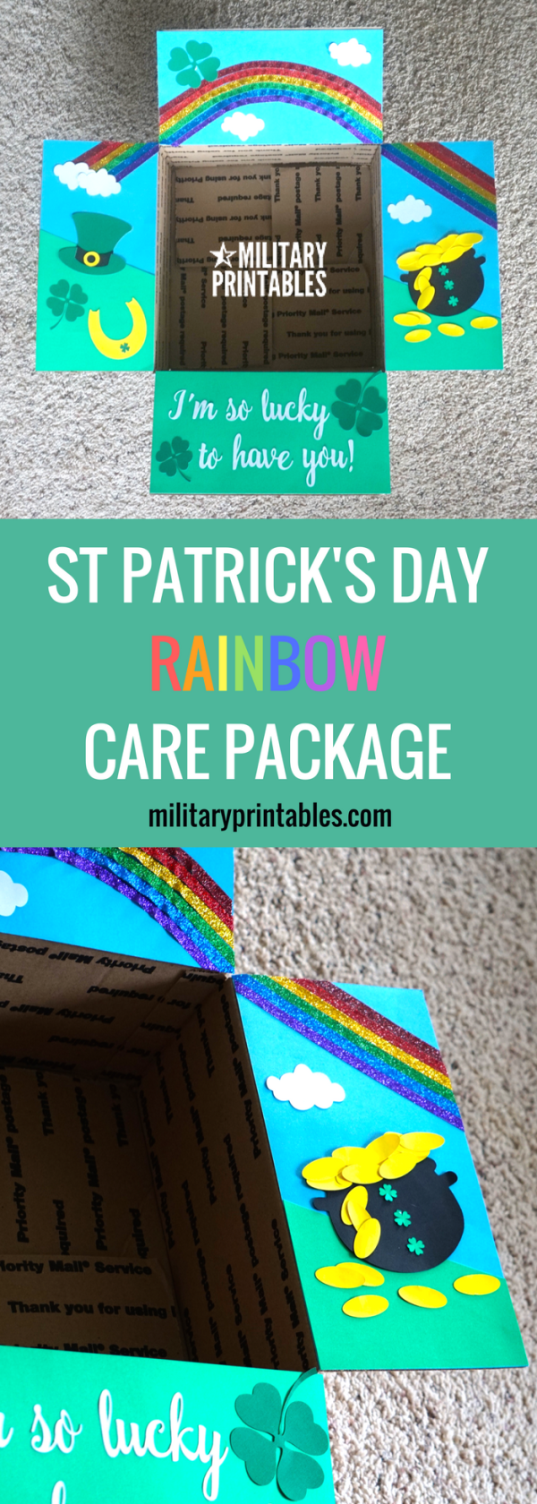 St Patrick's Day Rainbow Care Package