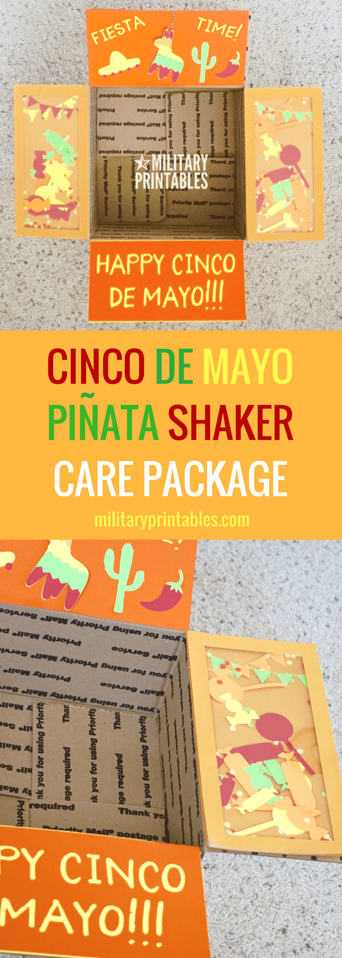 Cinco De Mayo Pinata Shaker Care Package Military Deployment College Long Distance Relationship Mexican Taco