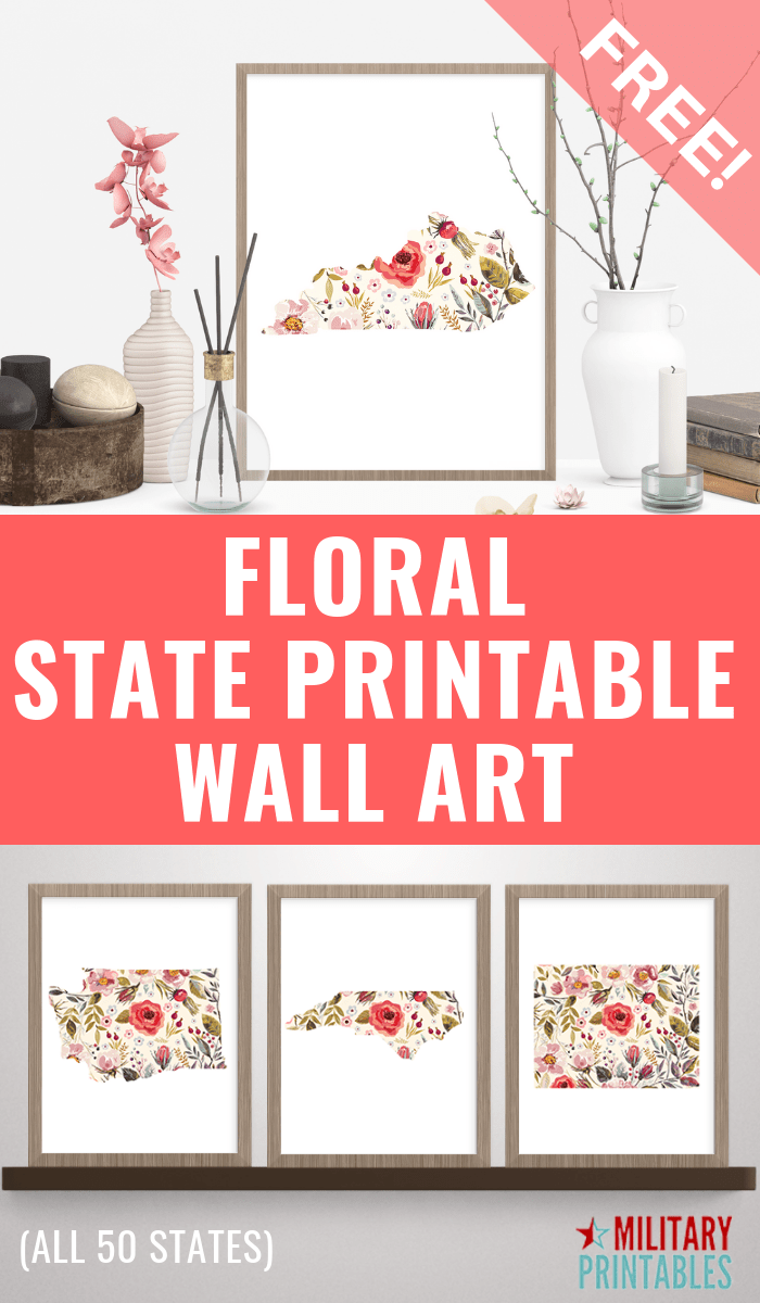 image regarding Free Printable Wall Art Flowers named Free of charge Floral Nation Printables - Army Printables