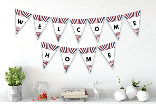 Free Welcome Home Printable Pennant Banner
