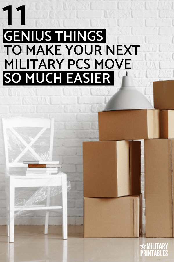 Genius Things To Make Your Next Military PCS Move So Much Easier, PCS tips and advice #military #militarylife #pcs #militaryfamily #militarypcs