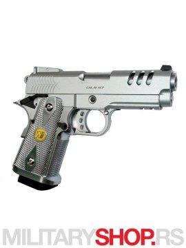 Replika pistolja Airsoft full metal srebrni na zeleni gas GGB 0310TMA P2