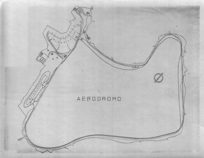 Aeroporto Margana - Mappa del campo di volo, con l'indicazione dell'Hangar