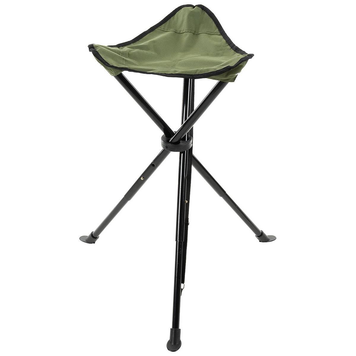 folding chair legs bedroom wicker 3 leg telescope od green trekking