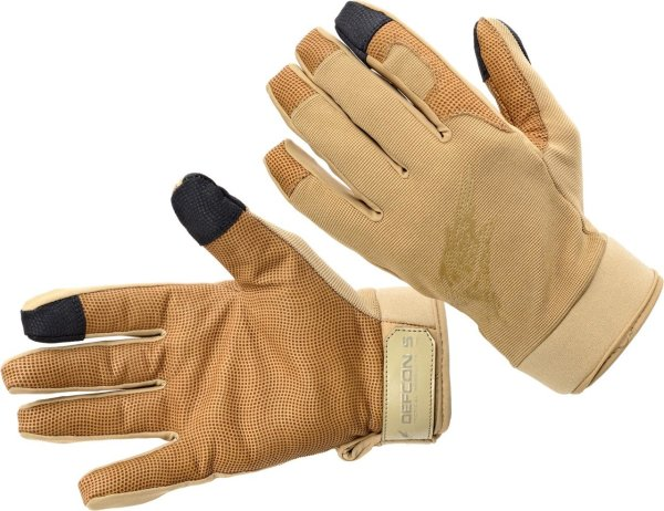 Shooting Gloves With Leather Palm - Coyote Apparel