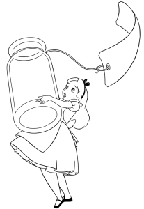 Coloring page Alice in Wonderland