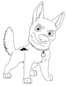 Coloring page Bolt