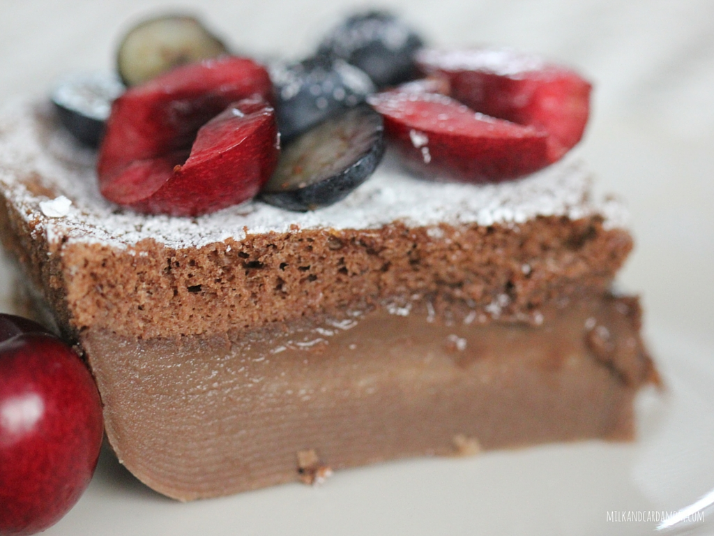 Chocolate Chai Magic Cake