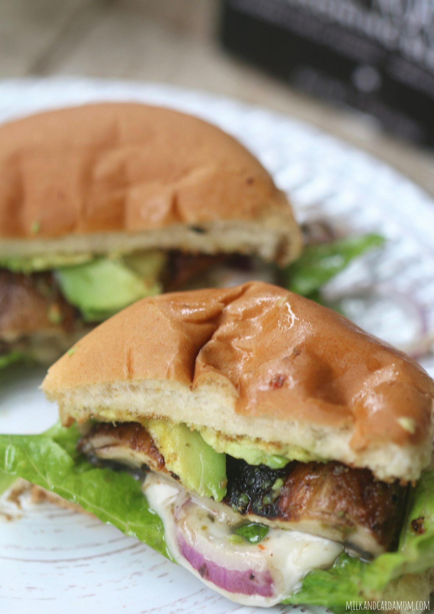 cheesy mushroom burgers milk u0026 cardamom