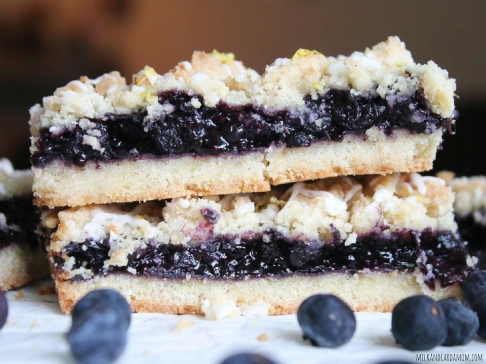 blueberry lemon crumb bars made with lemon blueberry chia jam recipe