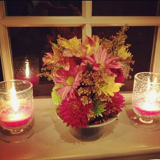 Adding Some Candle And Flowers Furniture