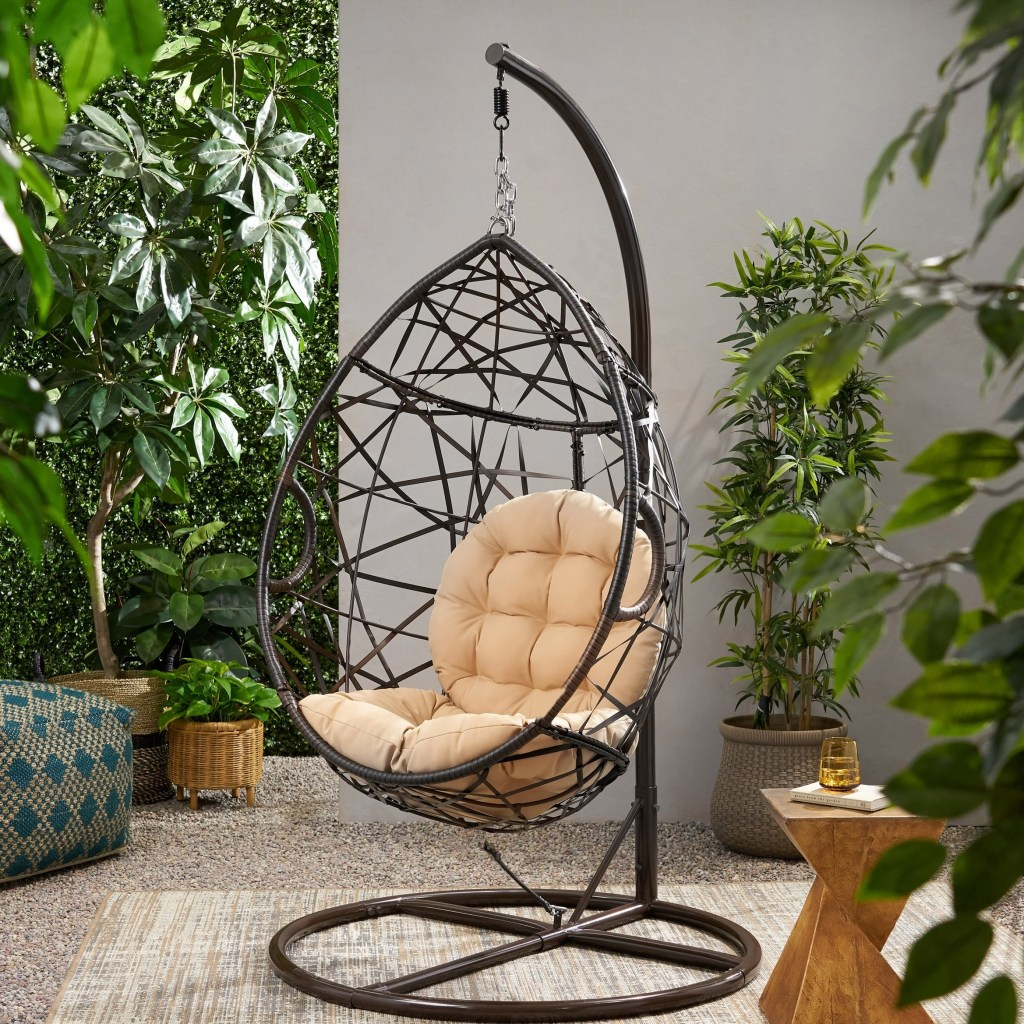 cayuse wicker tear drop hanging chair christopher knight home