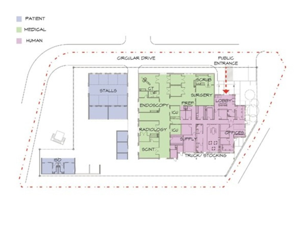 floor plan design for small and large equine hospitals