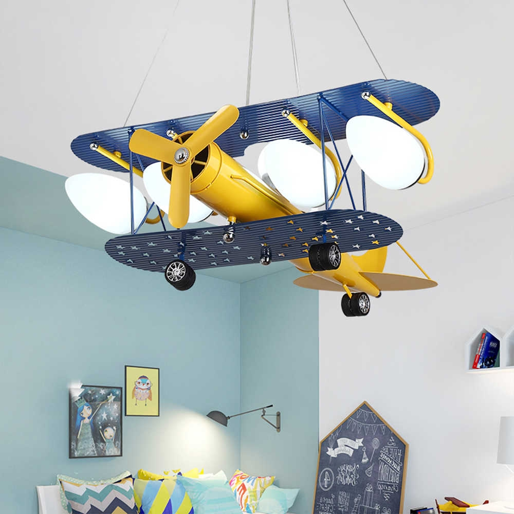 led lights with bulb airplane chandelier childrens room