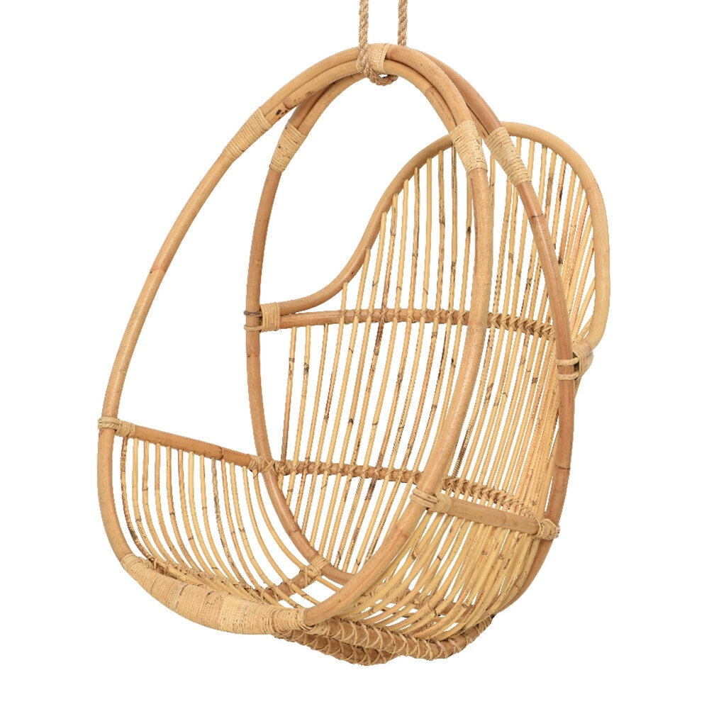 outdoor rattan hanging chair natural