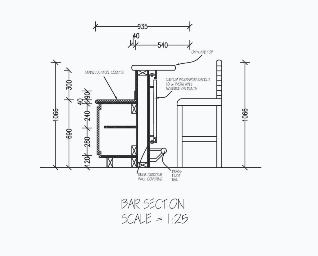 related image bar counter detailed drawings cafe design