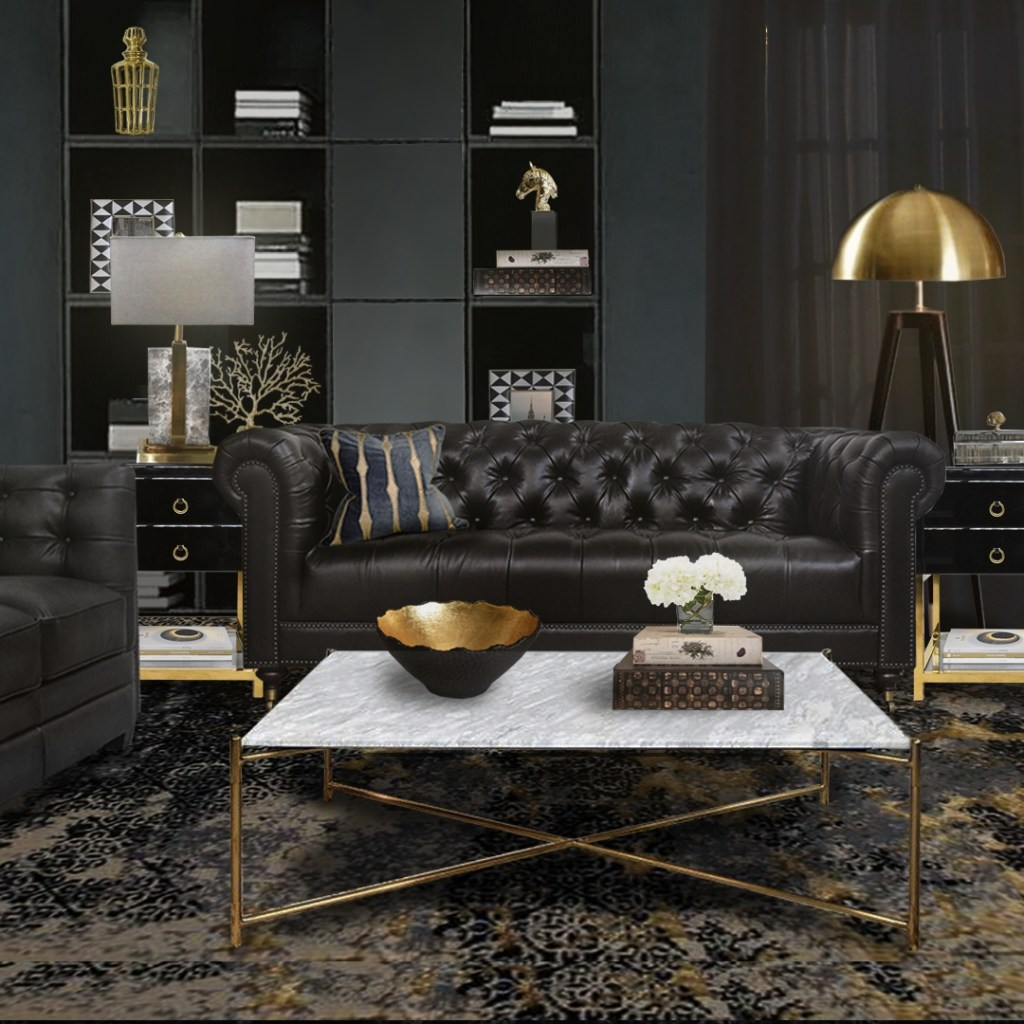we love how a dark interior can be styled with art deco