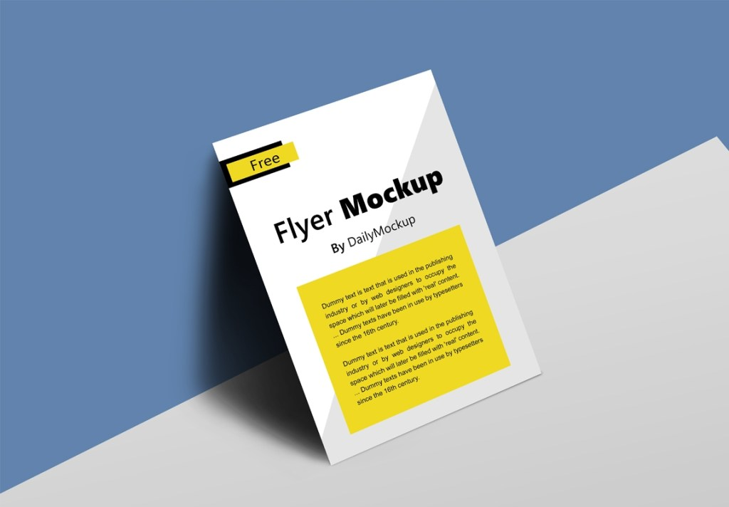 28 best flyer mockup psd templates for free download